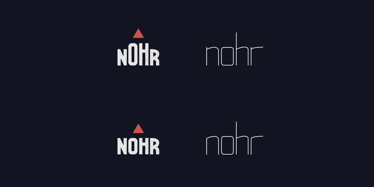 Four logos on dark background.