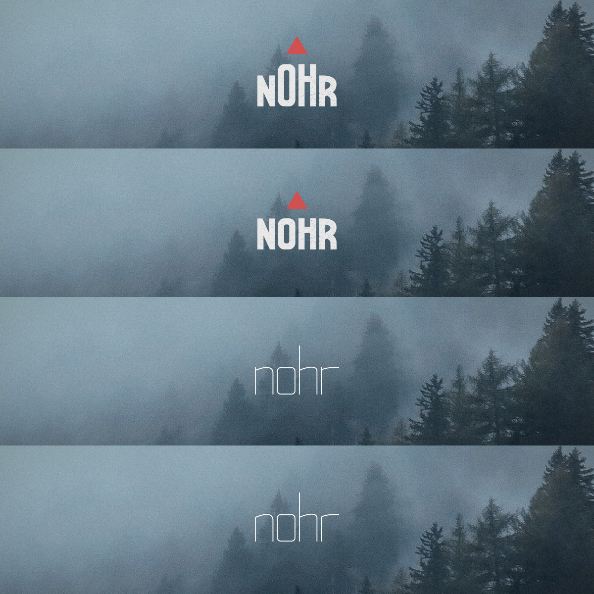 Four logos on a mountain/forest background.