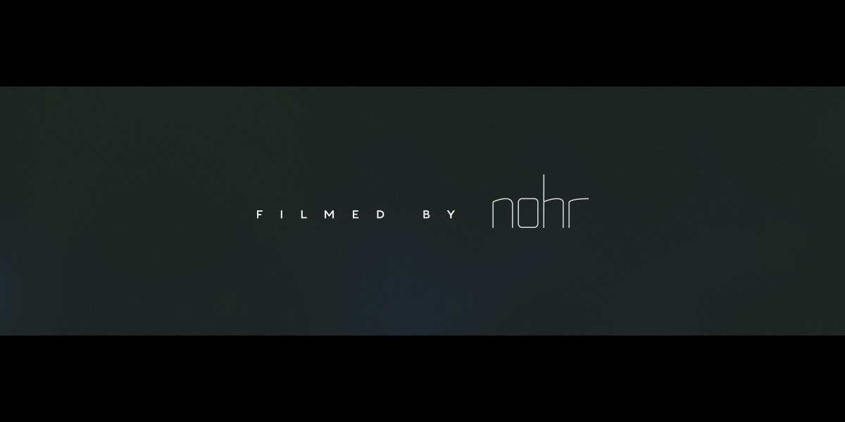 Nohr logo title design on black background and widescreen bars.